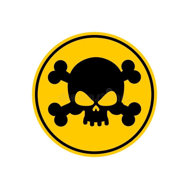 Σημάδι δηλητήριων κινδύνου κίτρινο Τοξικός κίνδυνος προσοχής περισσότερο η προειδοποίηση σημαδιών σημαδιών χαρτοφυλακίων μου διανυσματική απεικόνιση