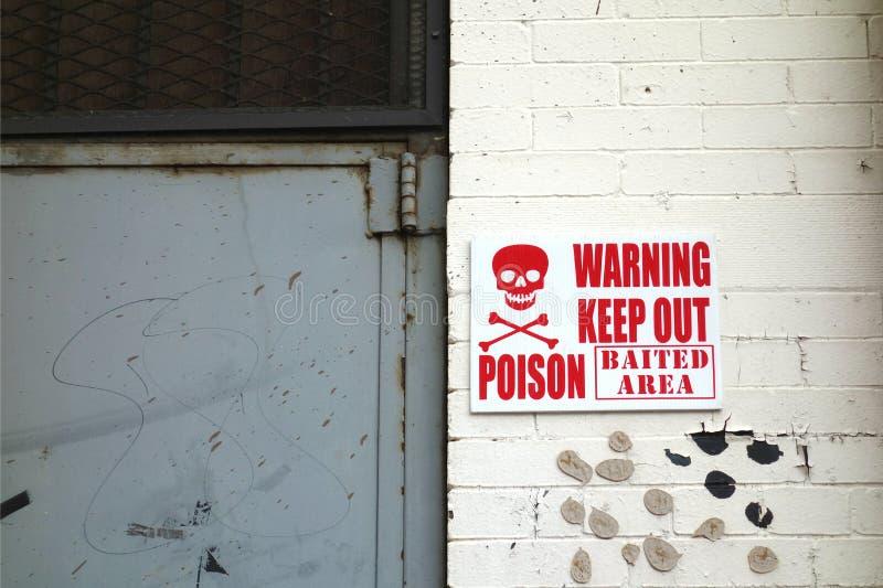Σημάδι δηλητήριων στοκ εικόνες