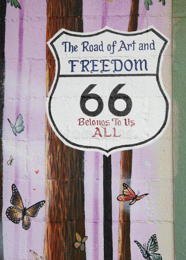 σημάδι 66 διαδρομών στοκ εικόνες με δικαίωμα ελεύθερης χρήσης