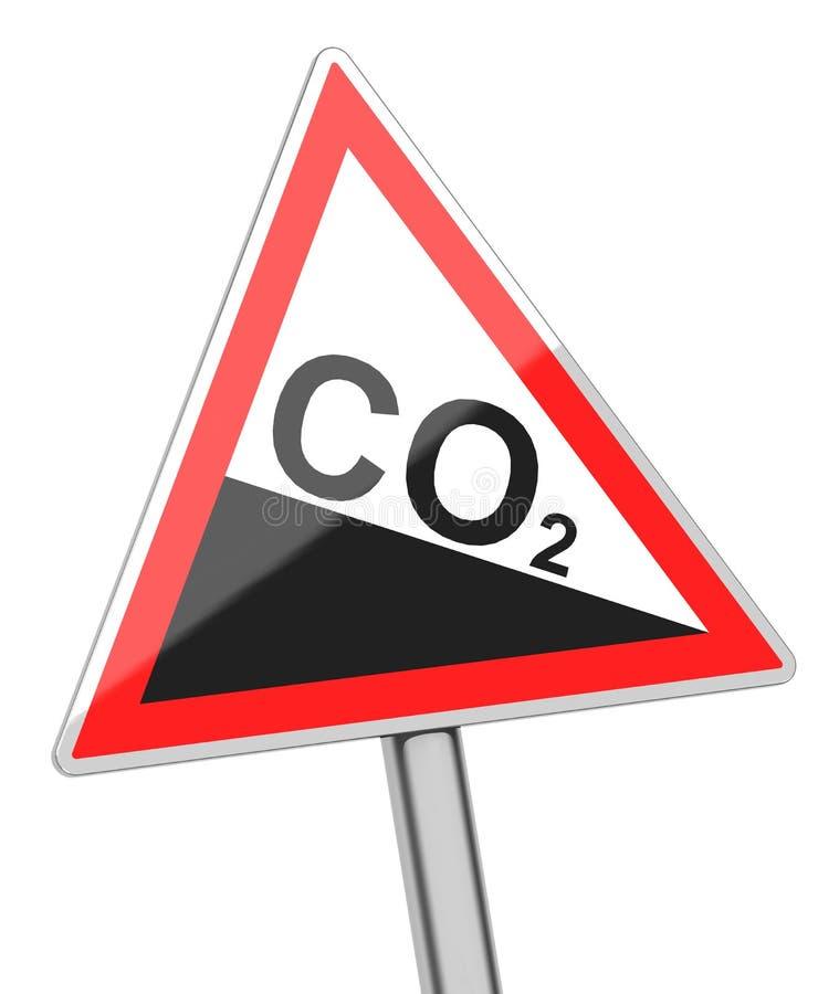 Σημάδι διοξειδίου του άνθρακα διανυσματική απεικόνιση