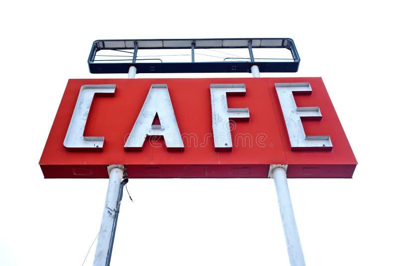 Σημάδι καφέδων κατά μήκος της ιστορικής διαδρομής 66 στο Τέξας στοκ εικόνες με δικαίωμα ελεύθερης χρήσης