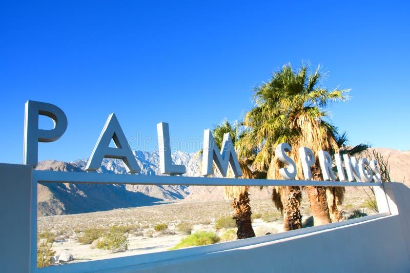 Σημάδι Καλιφόρνια ΗΠΑ Παλμ Σπρινγκς στοκ φωτογραφία με δικαίωμα ελεύθερης χρήσης