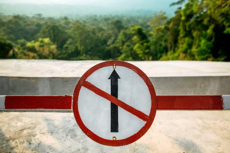 Σημάδι κυκλοφορίας κανένας τρόπος στοκ φωτογραφία με δικαίωμα ελεύθερης χρήσης