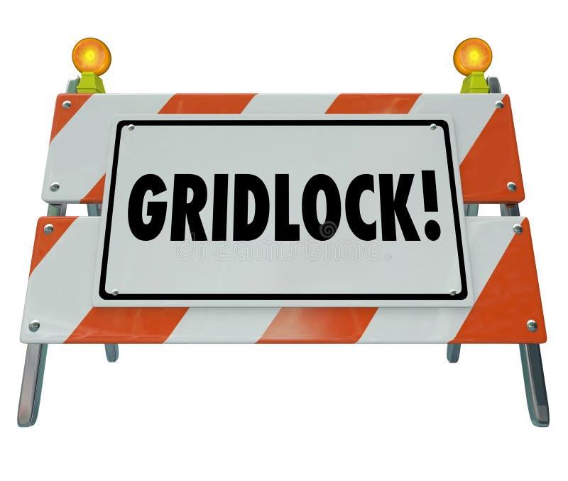 Σημάδι κυκλοφορίας προειδοποίησης οδοφραγμάτων οδικών εμποδίων εμφιάλωσης απεικόνιση αποθεμάτων
