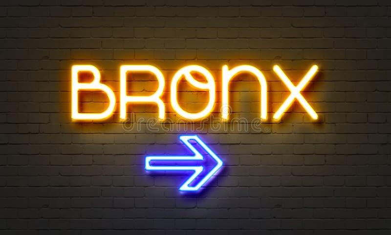 Σημάδι νέου Bronx στο υπόβαθρο τουβλότοιχος στοκ φωτογραφίες με δικαίωμα ελεύθερης χρήσης