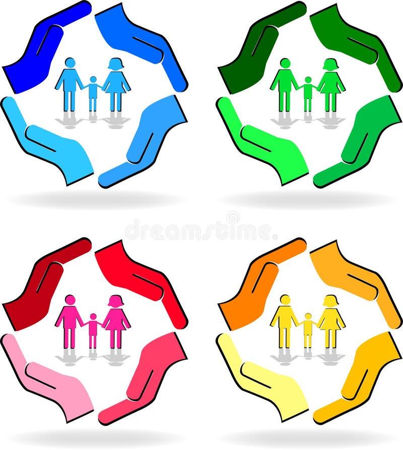 Σημάδι οικογενειακής προσοχής ελεύθερη απεικόνιση δικαιώματος