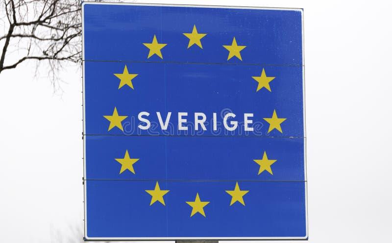 Σημάδι οικότροφων της Σουηδίας στοκ εικόνα με δικαίωμα ελεύθερης χρήσης