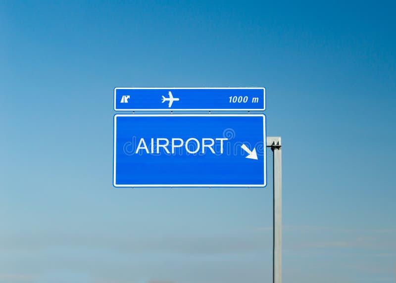 Σημάδι οδών αερολιμένων στοκ φωτογραφίες