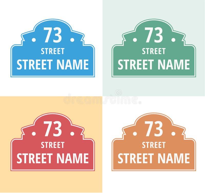 Σημάδι πινάκων αριθμών σπιτιών που απομονώνεται ελεύθερη απεικόνιση δικαιώματος