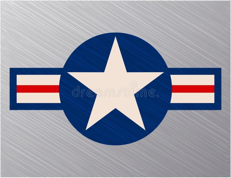 Σημάδι Πολεμικής Αεροπορίας των Η.Π.Α. ελεύθερη απεικόνιση δικαιώματος