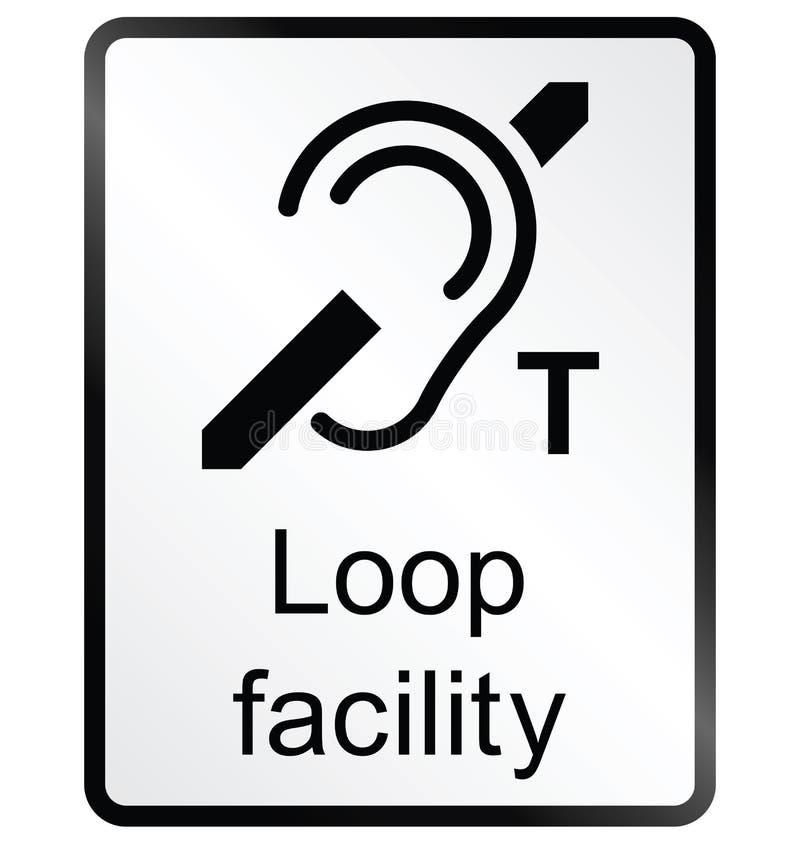 Σημάδι πληροφοριών δυνατότητας βρόχων διανυσματική απεικόνιση