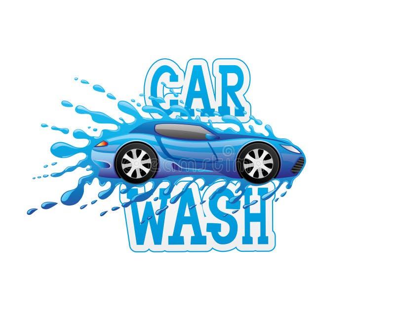 Σημάδι πλυσίματος αυτοκινήτων απεικόνιση αποθεμάτων