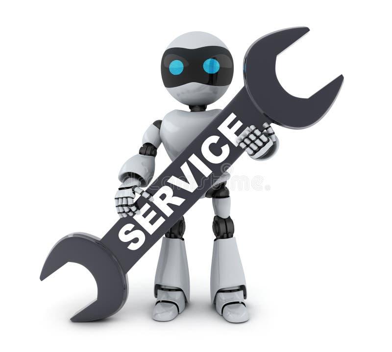 Σημάδι ρομπότ και υπηρεσιών διανυσματική απεικόνιση