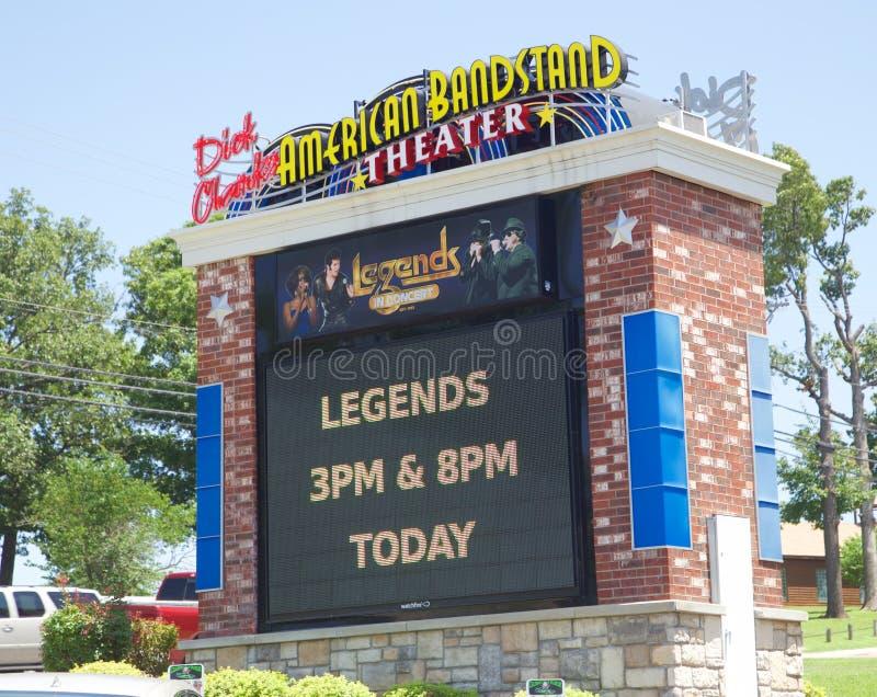 Σημάδι στο αμερικανικό θέατρο Bandstand, Branson Μισσούρι στοκ εικόνες
