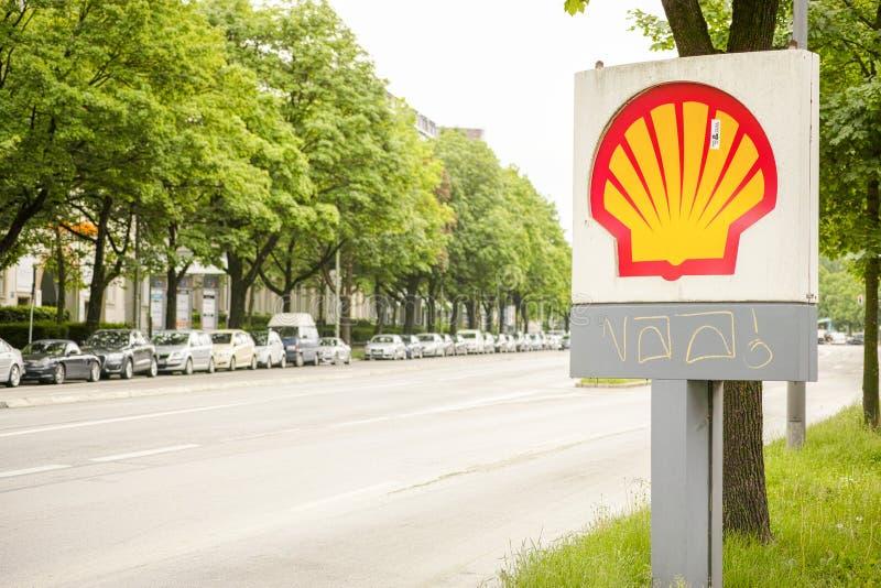 Σημάδι της Shell στοκ εικόνες με δικαίωμα ελεύθερης χρήσης