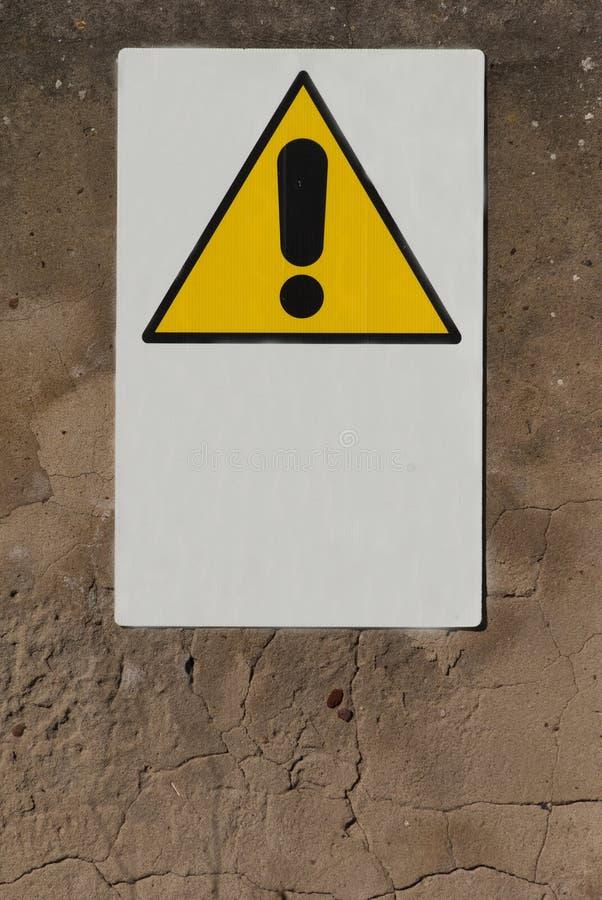 Σημάδι του κινδύνου στοκ εικόνες