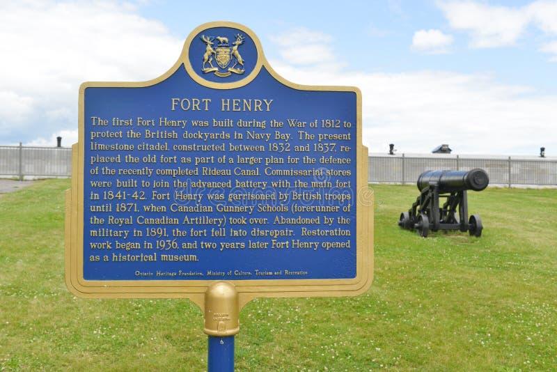 Σημάδι του Henry οχυρών, Οντάριο, Καναδάς στοκ εικόνες