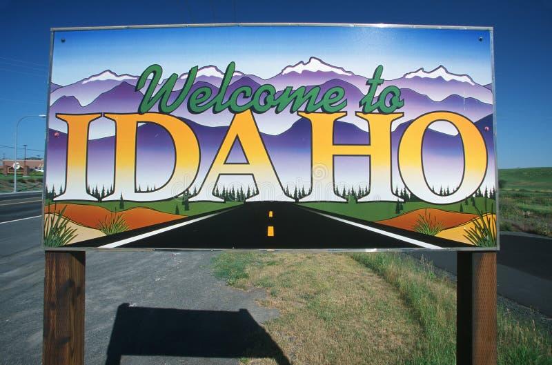 σημάδι του Idaho στην υποδοχή στοκ φωτογραφία