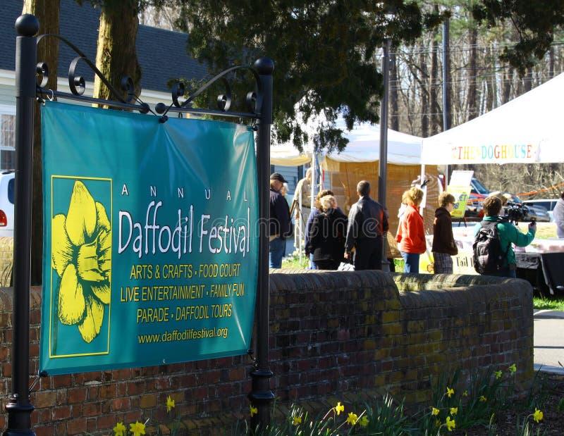 Σημάδι φεστιβάλ Daffodil στοκ φωτογραφία με δικαίωμα ελεύθερης χρήσης