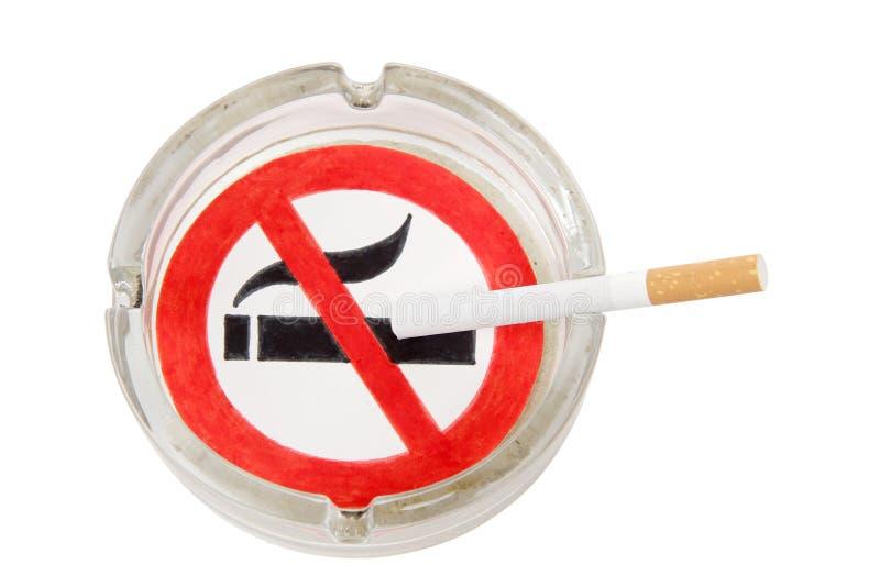 Σημάδι ashtray στοκ φωτογραφία