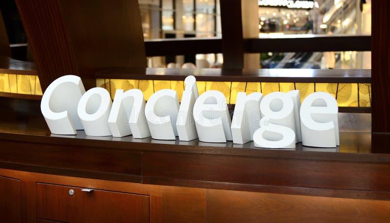 Σημάδι Concierge στοκ εικόνα με δικαίωμα ελεύθερης χρήσης