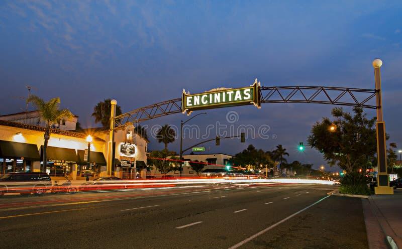 Σημάδι Encinitas στοκ φωτογραφία με δικαίωμα ελεύθερης χρήσης