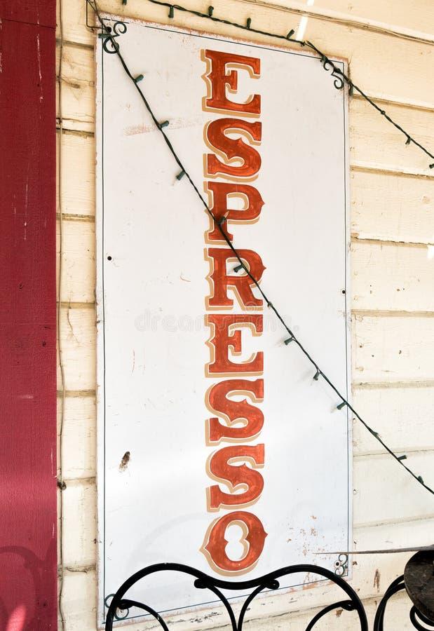 Σημάδι Espresso στοκ εικόνες