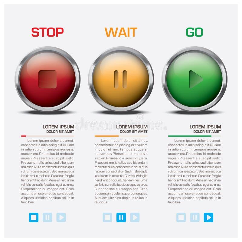 Σημάδι Infographic φωτεινού σηματοδότη ελεύθερη απεικόνιση δικαιώματος