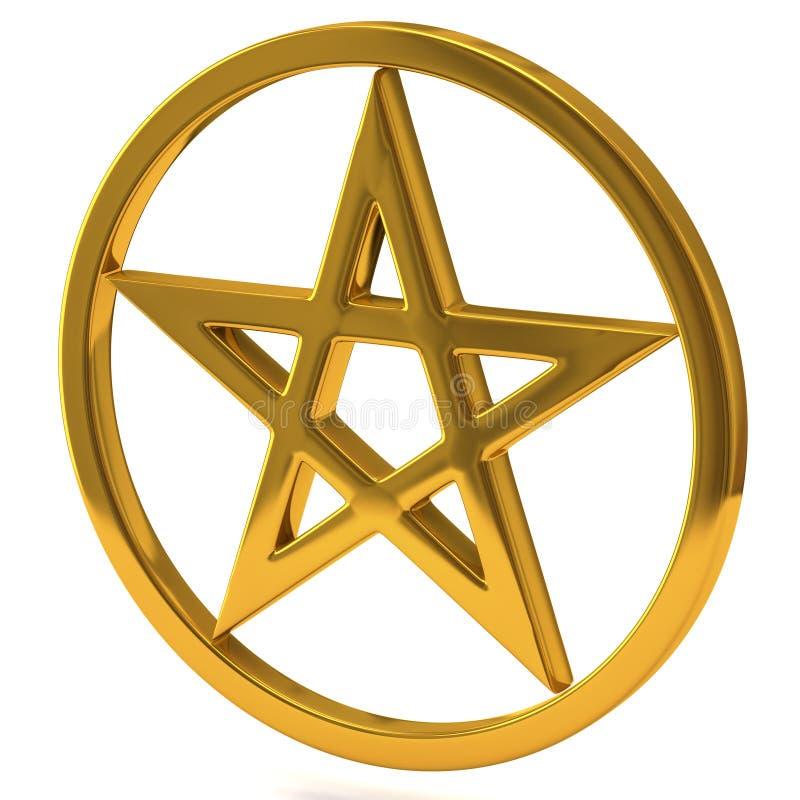 Σημάδι Pentagram απεικόνιση αποθεμάτων