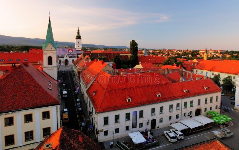 σημάδι ST Ζάγκρεμπ της Κροατίας εκκλησιών Κροατία στοκ εικόνα