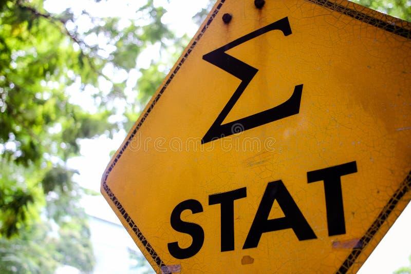 Σημάδι STAT στοκ φωτογραφία