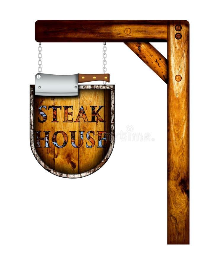 Σημάδι Steakhouse στοκ εικόνα