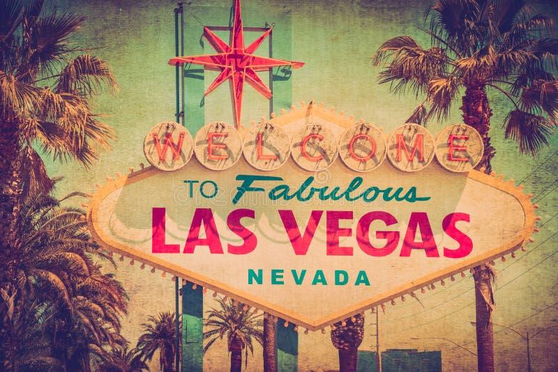 Σημάδι Vegas Grunge στοκ φωτογραφία με δικαίωμα ελεύθερης χρήσης