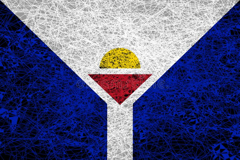Σημαία Αγίου Martin διανυσματική απεικόνιση