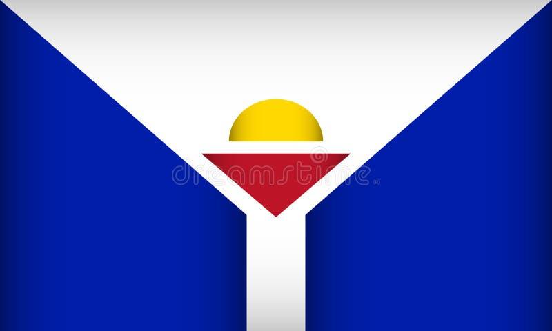 Σημαία Αγίου Martin απεικόνιση αποθεμάτων