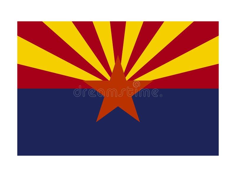 Σημαία ΑΜΕΡΙΚΑΝΙΚΟΥ κράτους της Αριζόνα διανυσματική απεικόνιση