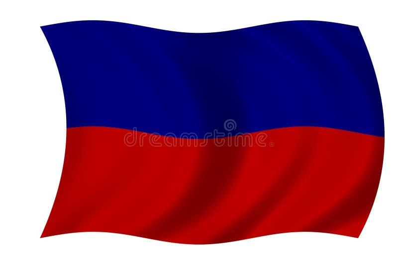 σημαία Αϊτή διανυσματική απεικόνιση