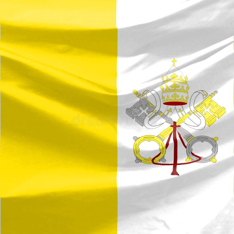 σημαία Βατικανό διανυσματική απεικόνιση