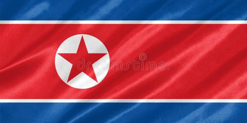 Σημαία Βόρεια Κορεών διανυσματική απεικόνιση