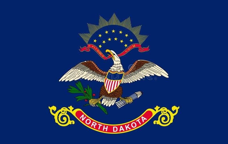 Σημαία βόρεια Ντακότα της κατάστασης των Ηνωμένων Πολιτειών απεικόνιση αποθεμάτων