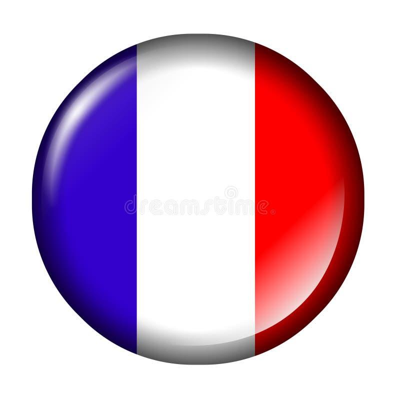 σημαία Γαλλία κουμπιών απεικόνιση αποθεμάτων