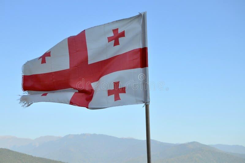 σημαία Γεωργιανός στοκ εικόνες με δικαίωμα ελεύθερης χρήσης
