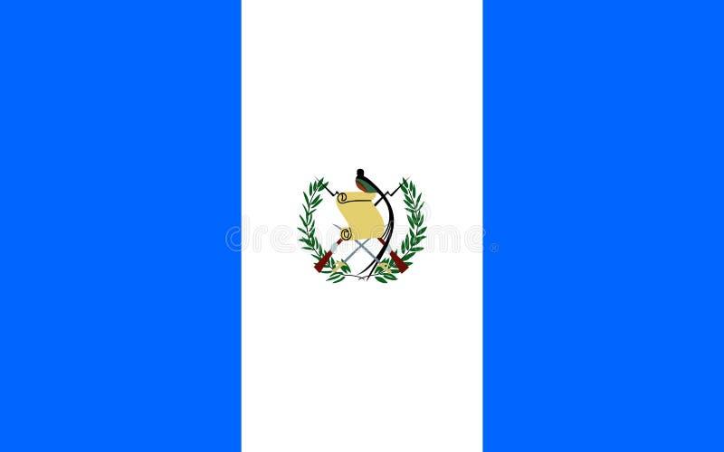 σημαία Γουατεμάλα διανυσματική απεικόνιση