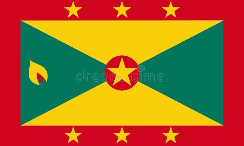 σημαία Γρενάδα απεικόνιση αποθεμάτων