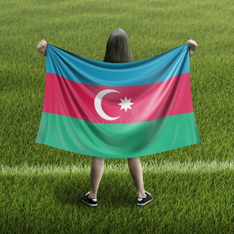 Σημαία γυναικών και του Αζερμπαϊτζάν απεικόνιση αποθεμάτων