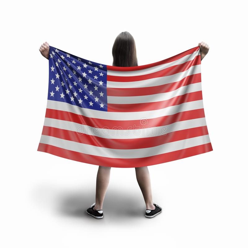 Σημαία γυναικών και των ΗΠΑ απεικόνιση αποθεμάτων