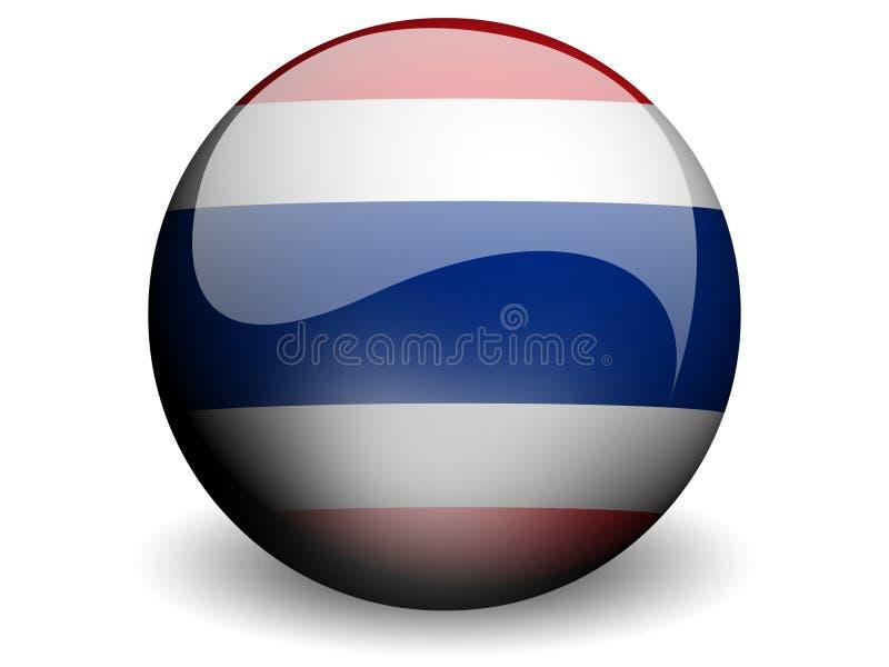σημαία γύρω από την Ταϊλάνδη απεικόνιση αποθεμάτων
