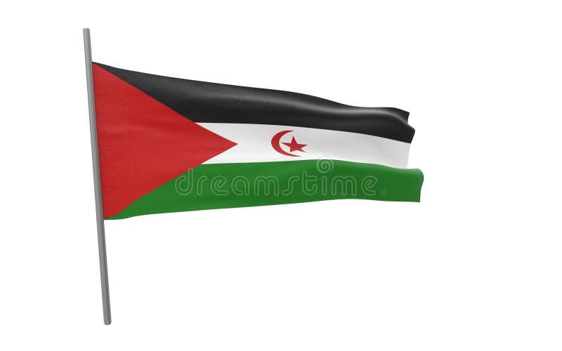 Σημαία δυτικής Σαχάρας ελεύθερη απεικόνιση δικαιώματος