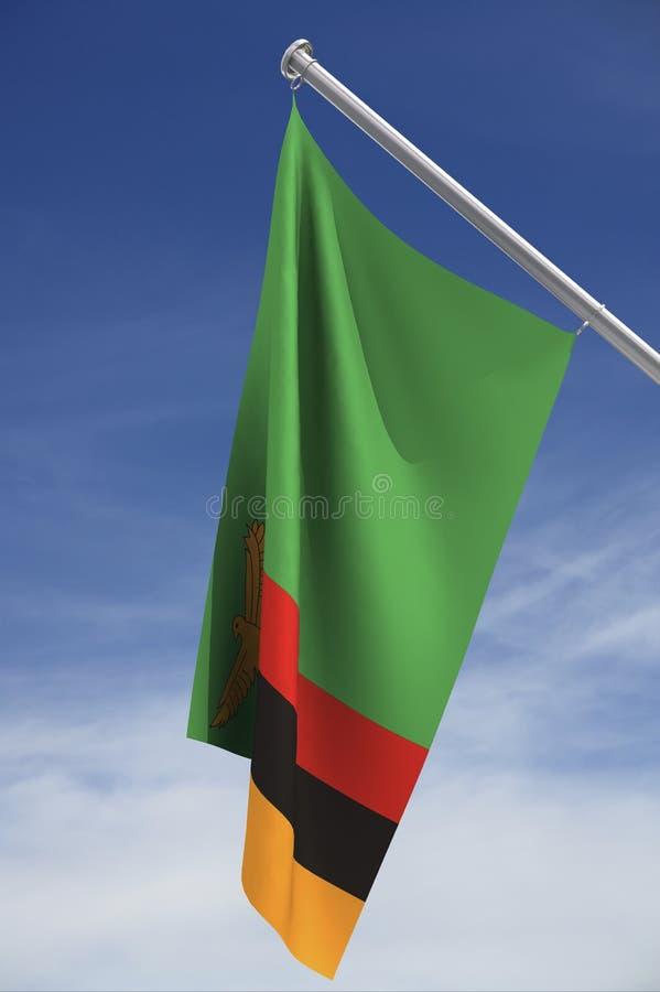 σημαία εθνική Ζάμπια ελεύθερη απεικόνιση δικαιώματος