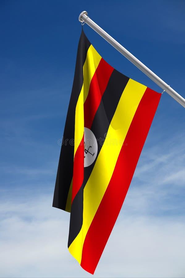 σημαία εθνική Ουγκάντα διανυσματική απεικόνιση